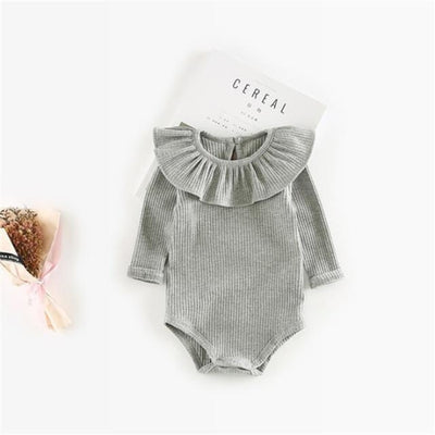 Vivid colourful Bodysuit for Girls - Gray / 6-9 months