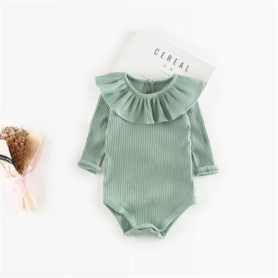 Vivid colourful Bodysuit for Girls - Green / 6-9 months