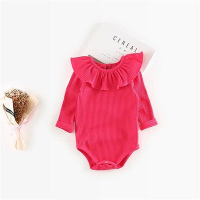 Vivid colourful Bodysuit for Girls - Red / 6-9 months