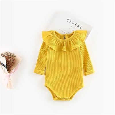 Vivid colourful Bodysuit for Girls - Yellow / 6-9 months