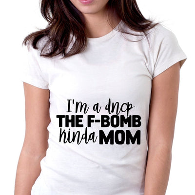 Vulgar Drop the F-Bomb Matching Mom Son Shirts