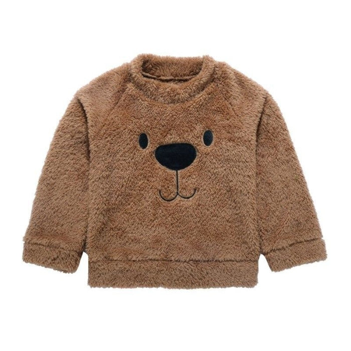 Warm Fuzzy Bear Sweater for Toddler Boys