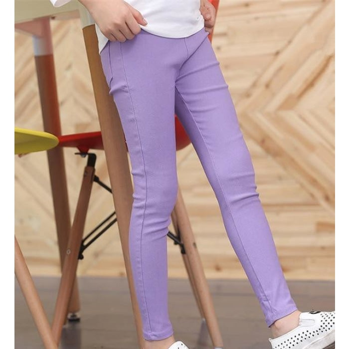 Warm Skinny Trousers/Leggins with Elastic Waistband and Pockets