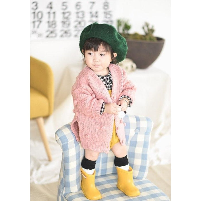 Winter Ball In Hand Down Sweater Cardigan Jacket for Baby Girls