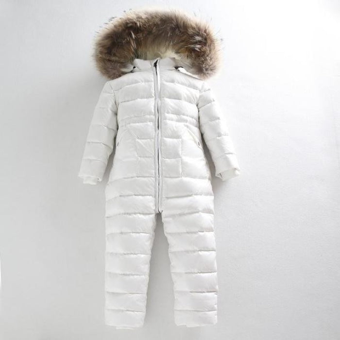 Winter Climbing Duck Down Outdoor Jumpsuit for Baby Boys Girls