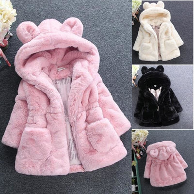 Winter Faux Fur Fleece coat for Girls