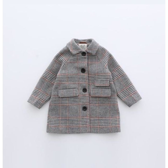 Winter Wool Overcoat for Girls