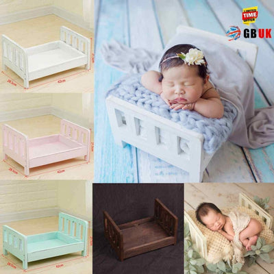 Wooden Bed Photo Props for Newborn