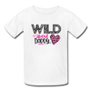 Young Girl's Valentine T-Shirt Wild About Daddy - white