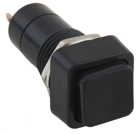 LATCH SWITCH SQR BLACK SINGLE