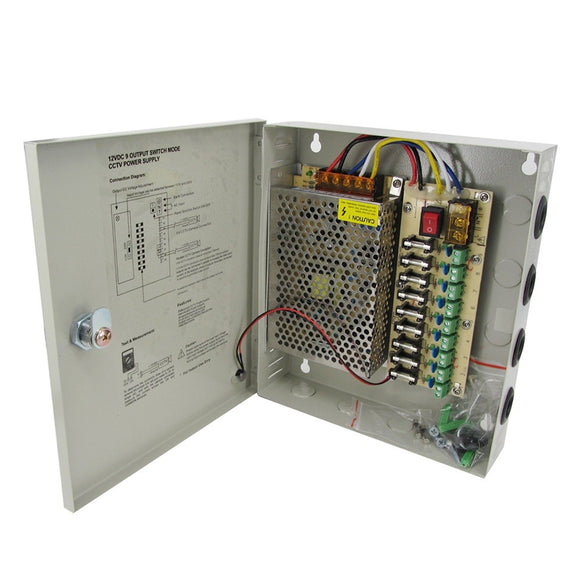 POWER SUPPLY 12V 10A 8CH