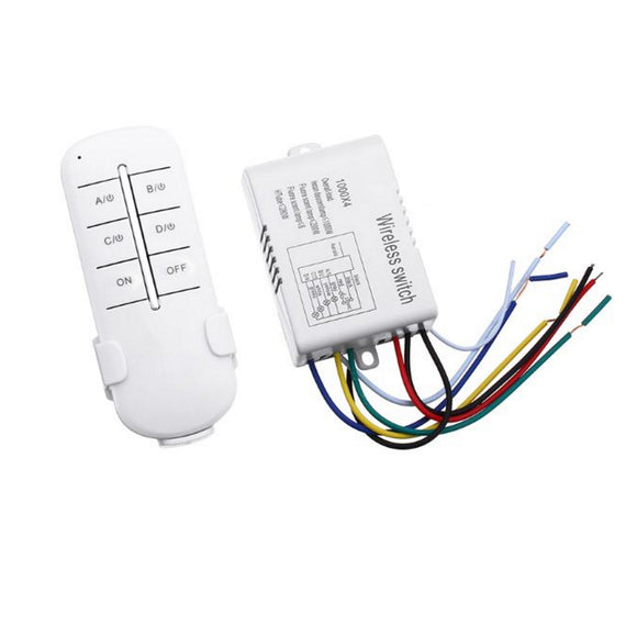 SWITCH RC WIRELESS 220V 4CH CONTROL