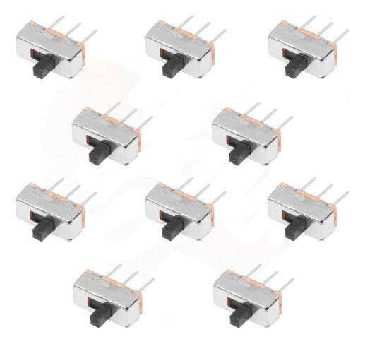 SLIDE SWITCH SMALL 8(L) x 11(H) x 4(W) mm 10PC