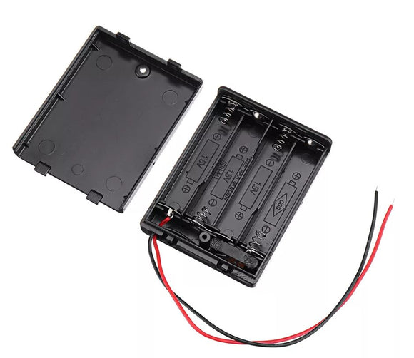 BATTERY CASE 4 x AAA with SWITCH WIRED