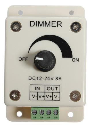 DIMMER DC 12-24V 8A SINGLE COLOR LED MANUAL SWITCH
