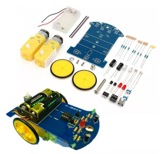KIT DIY TRACKING ROBOT CAR WITH DC MOTOR 3V