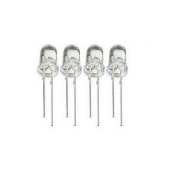 LED 5mm SUPER WHITE 4900MCD 2.8-3.4V 4PC