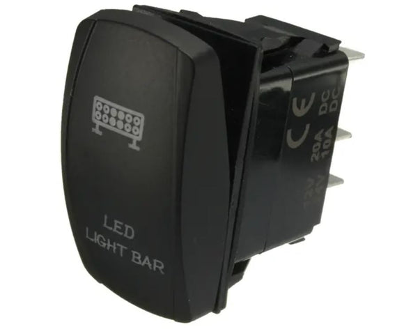 LIGHTBAR ROCKER SWITCH 12V20A 24V10A