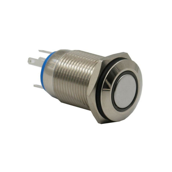 PUSH BUTTON ANTI-VANDAL SWITCH-1 POLE ON-OFF 12V(Small) 12mm