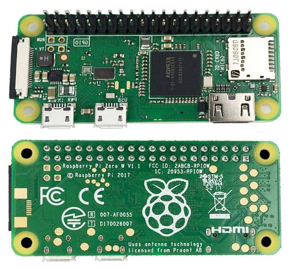 RASPBERRY Pi ZERO Wireless WH (Pre-Soldered Header)