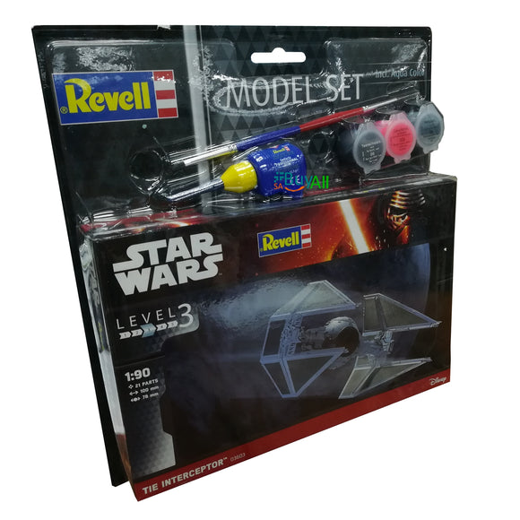 REVELLL MODEL SET TIE INTERCEPTOR STAR WARS 1:90 (REV03603)