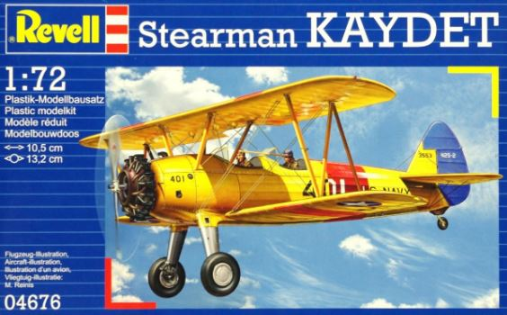 REVELL MODEL SET STEARMAN KAYDET 1/72 (REV04676)