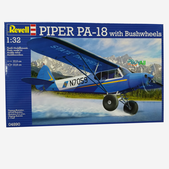 REVELL MODEL SET PIPER PA-18 WITH BUSHWHEELS 1/32 (REV04890)