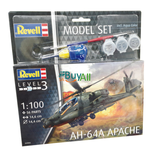 REVELL MODEL SET AH-64A APACHE 1/72 (REV64985)