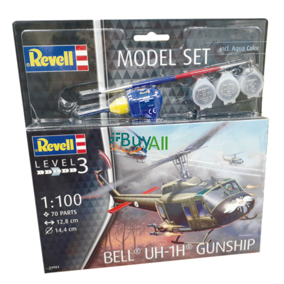 REVELL MODEL SET BELL UH-1H GUNSHIP (REV64983)