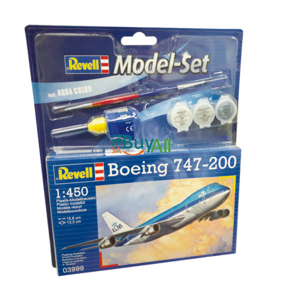 REVELL MODEL SET BOEING 747-200 1/450 (REV63999)