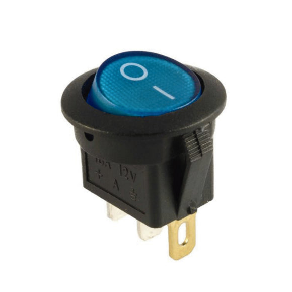 ROCKER SWITCH SPST ON OFF 12V Blue