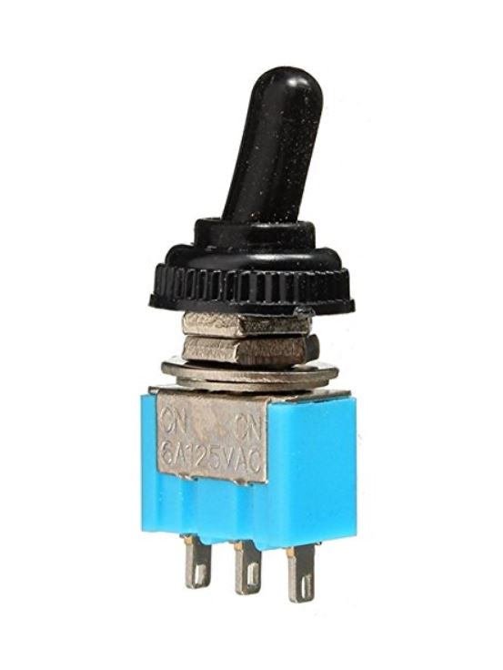 TOGGLE SWITCH MINI ON-ON 6A 125V 3PIN WATERPROOF BOOT SPDT