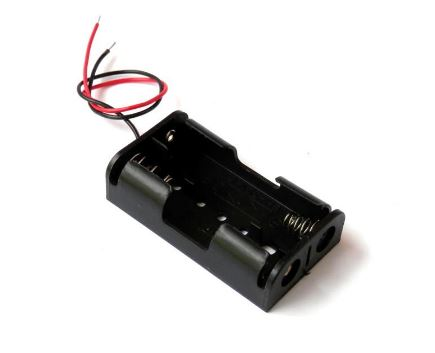 BATTERY HOLDER 2 x AA WIRE