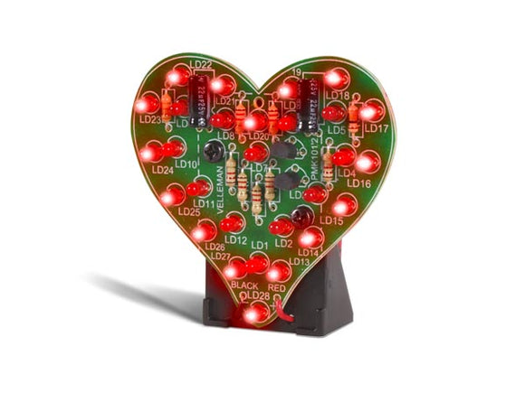 VELLEMAN MINI-KIT FLASHING LED HEART MK101