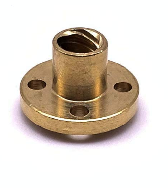 BRASS 8mm FLANGE NUT 4 CNC/3D PRNT ROD22