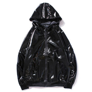 Black Windbreaker Jacket