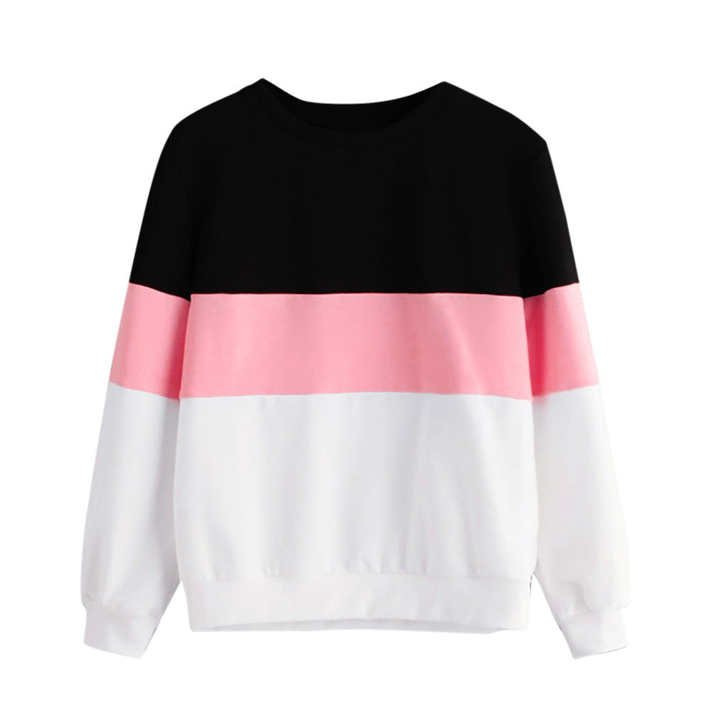 Women's Long Double Striped Sweatshirt
