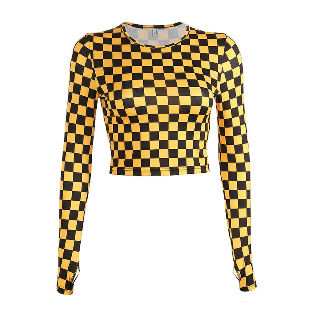 Yellow Checkboard Long Sleeve Shirt