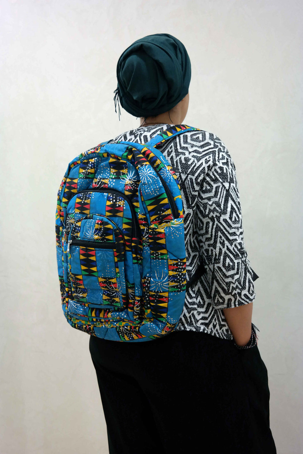 African ankara backpack 1