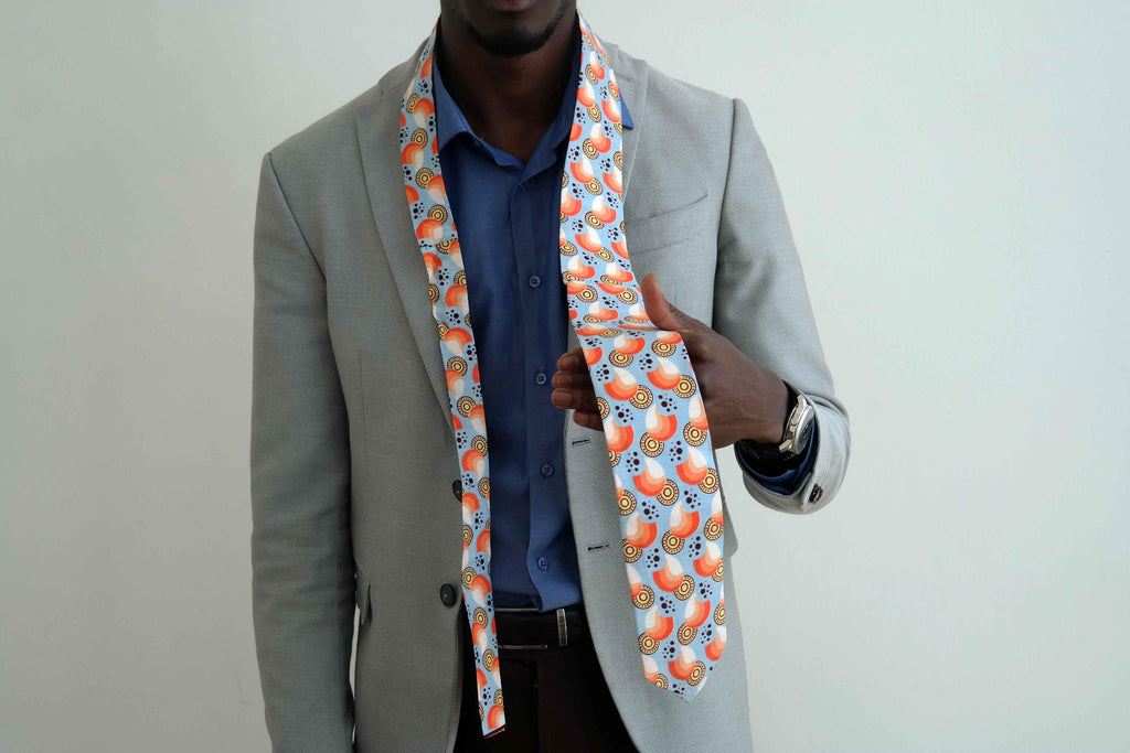 African fabric tie 1