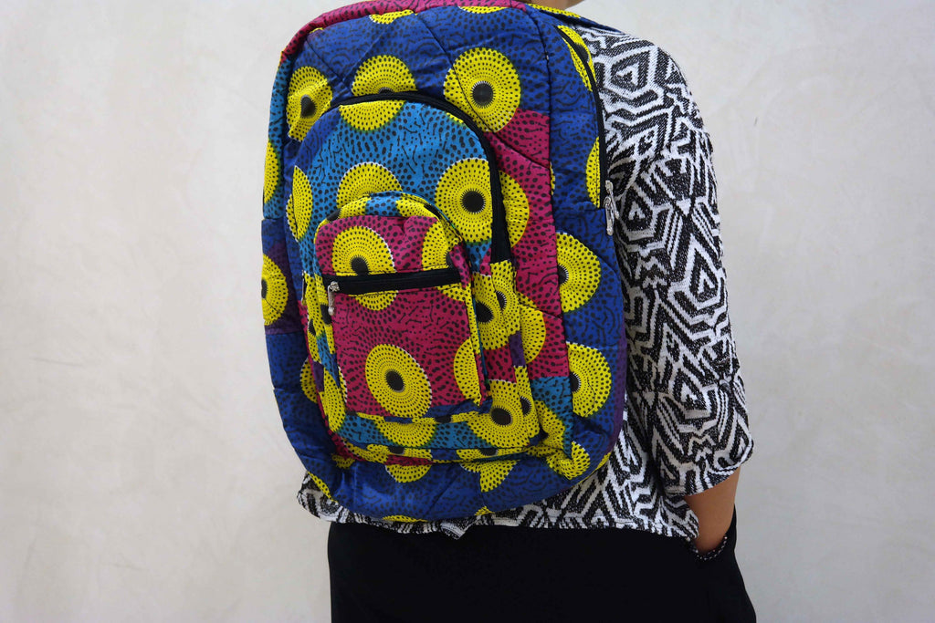 African ankara backpack 4