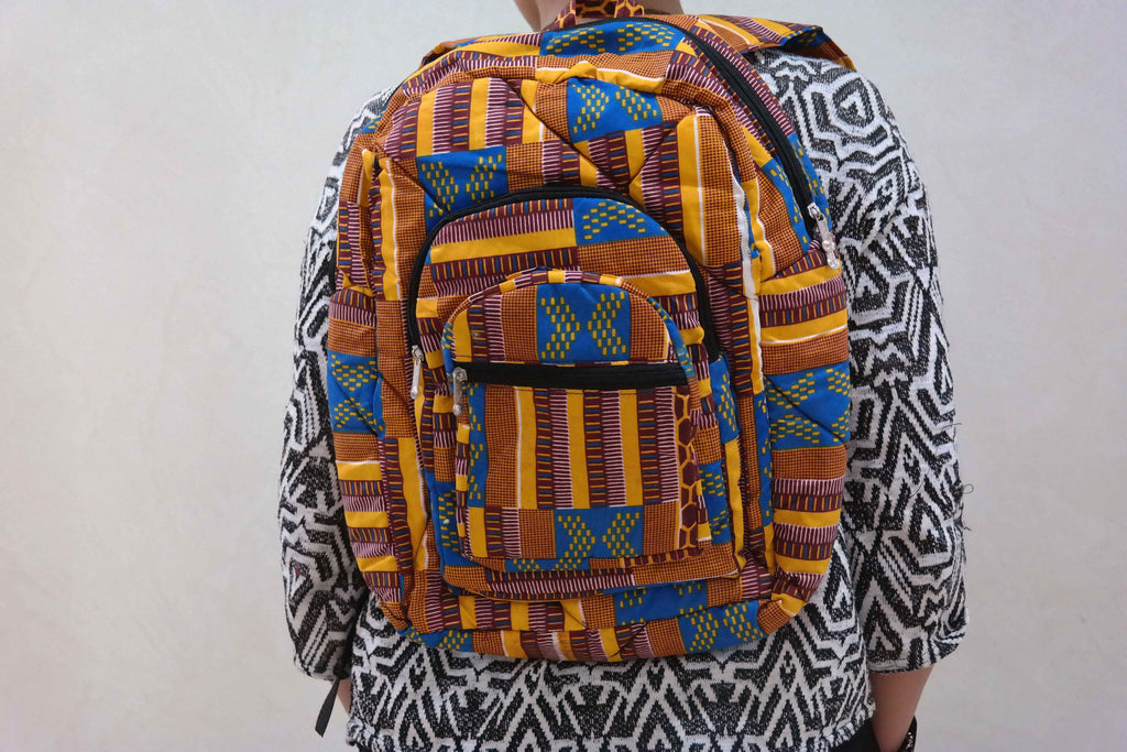 African ankara backpack 3