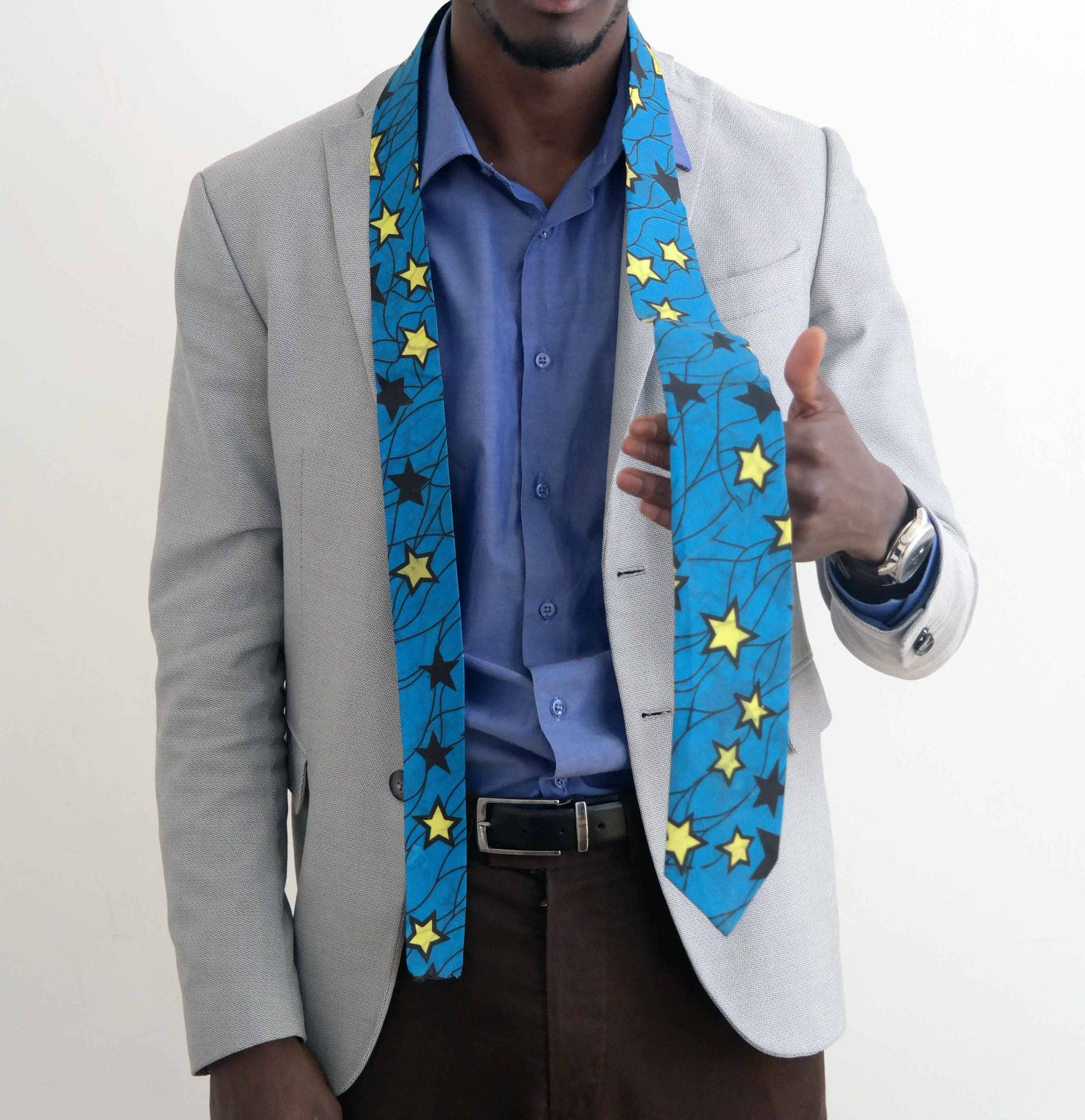 African fabric tie 3