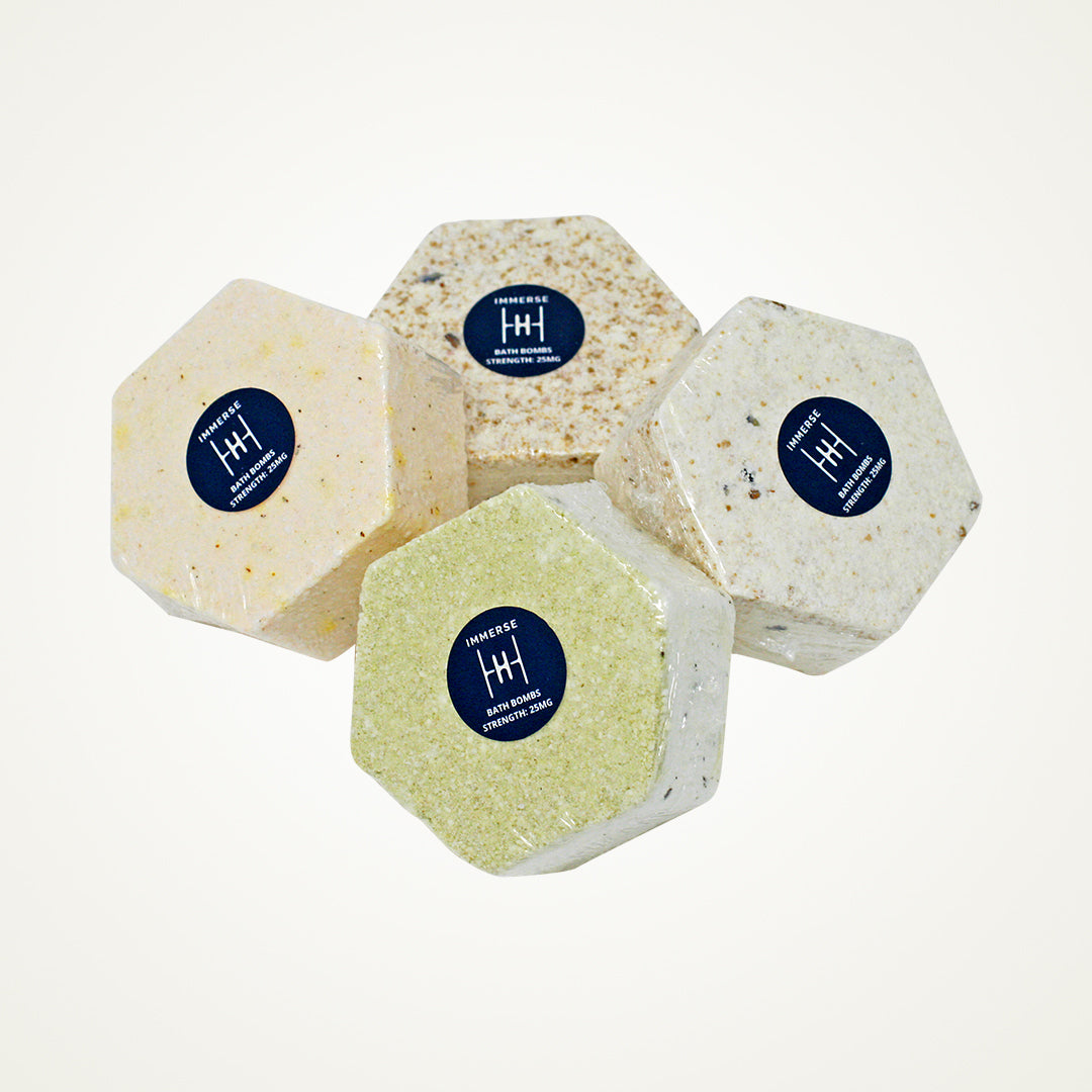 Cheap CBD Infused Bath Bombs Trio Pack for $42.99 @ Hearty Heroes