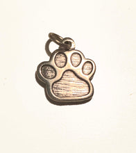 Load image into Gallery viewer, Sterling Silver Engraved WCC PawPrint Charm