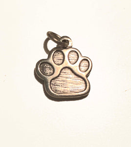 Sterling Silver Engraved WCC PawPrint Charm