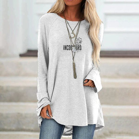 UNDERCOVER FLY Woman's Long Sleeve Loose Fit T-shirt