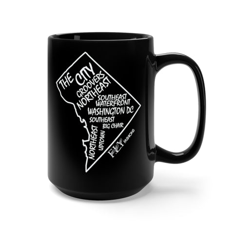 DC FLY Black Mug 15oz
