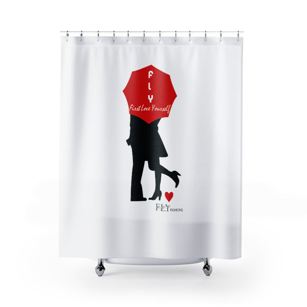 FLY LOVE Shower Curtains