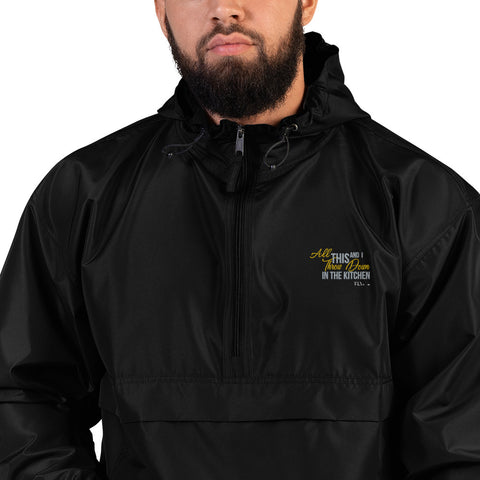 THROW DOWN FLY Men's Embroidered Champion Packable Jacket